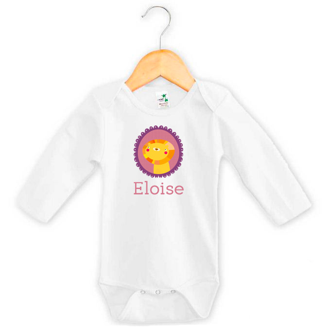 cb6c21cc9 Lion Baby Girl Name Onesie | Personalised Baby Gifts | Word On Baby