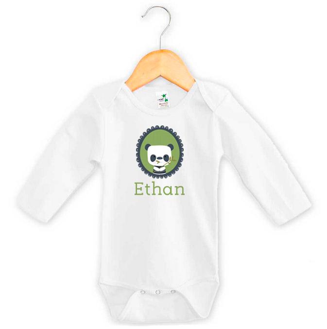 Panda Baby Girl Name Onesie Personalised Baby Gifts