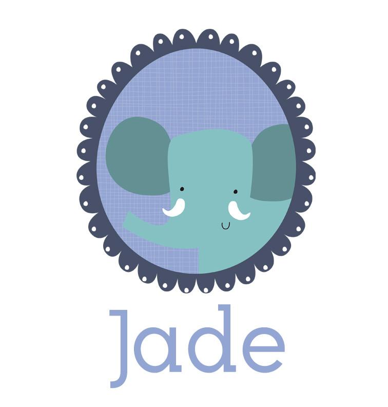 Personalised baby name elephant onesie - Jade