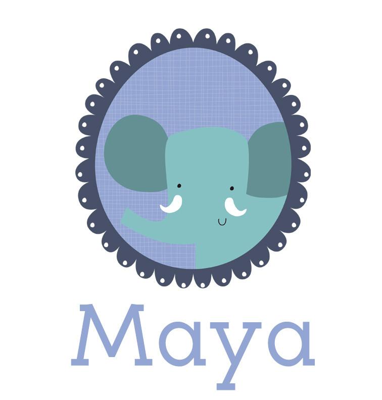 Personalised baby name elephant onesie - Maya
