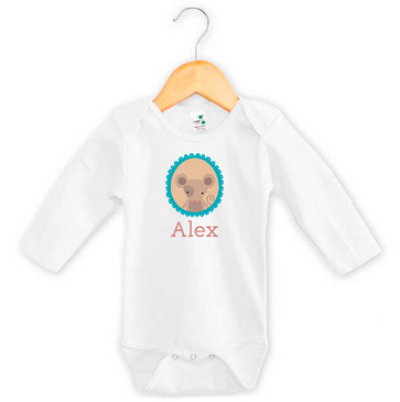 Personalised baby name mouse onesie