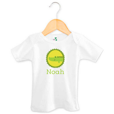 Personalised baby name crocodile t-shirt
