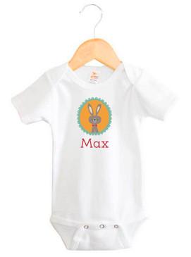 Personalised baby name woodland rabbit design