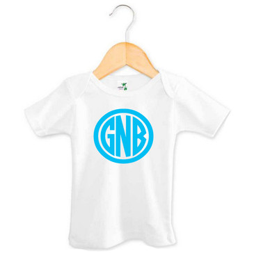Personalised Monogram Baby Tee - GNB