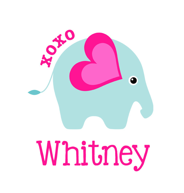 Baby Girl Name Xoxo Elephant Blanket Personalised Baby