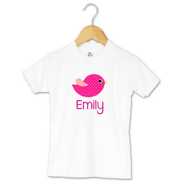 Personalised Pink Bird Toddler T-shirt - Emily