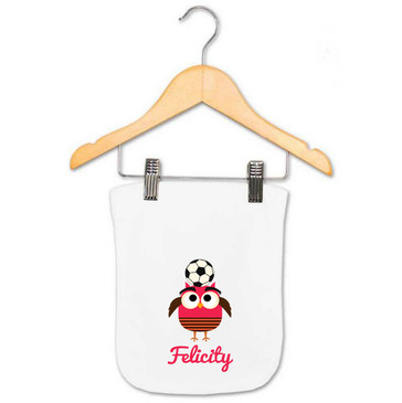 Personalised Baby Gifts - Baby Name Burp Cloth - Felicity