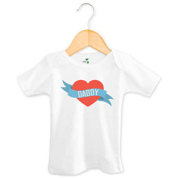 Love Heart Daddy Baby Tee