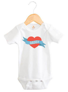 Love Heart Daddy Onesie