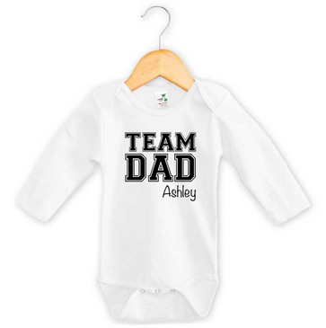 Team Dad Personalised Onesie - Ashley