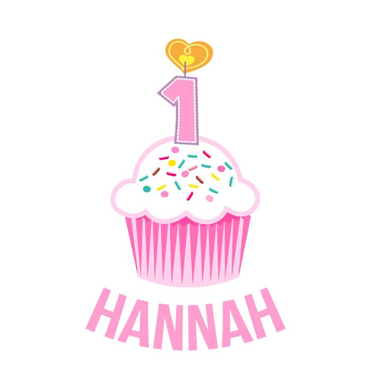 Personalised First Birthday Onesie - Pink Cupcake - Hannah