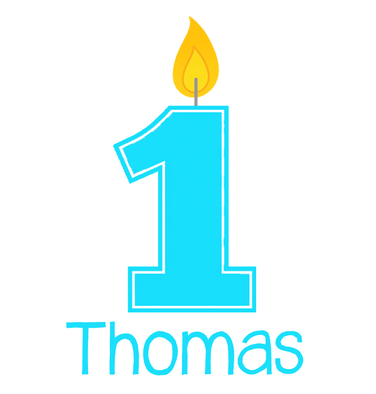 Personalised First Birthday Baby Boy Bib - Thomas