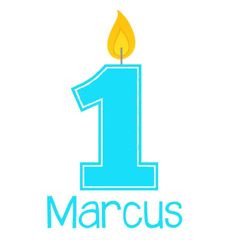 Personalised First Birthday Baby Boy Bib - Marcus