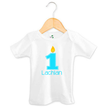 Personalised First Birthday Baby Boy T-shirt - Lachlan