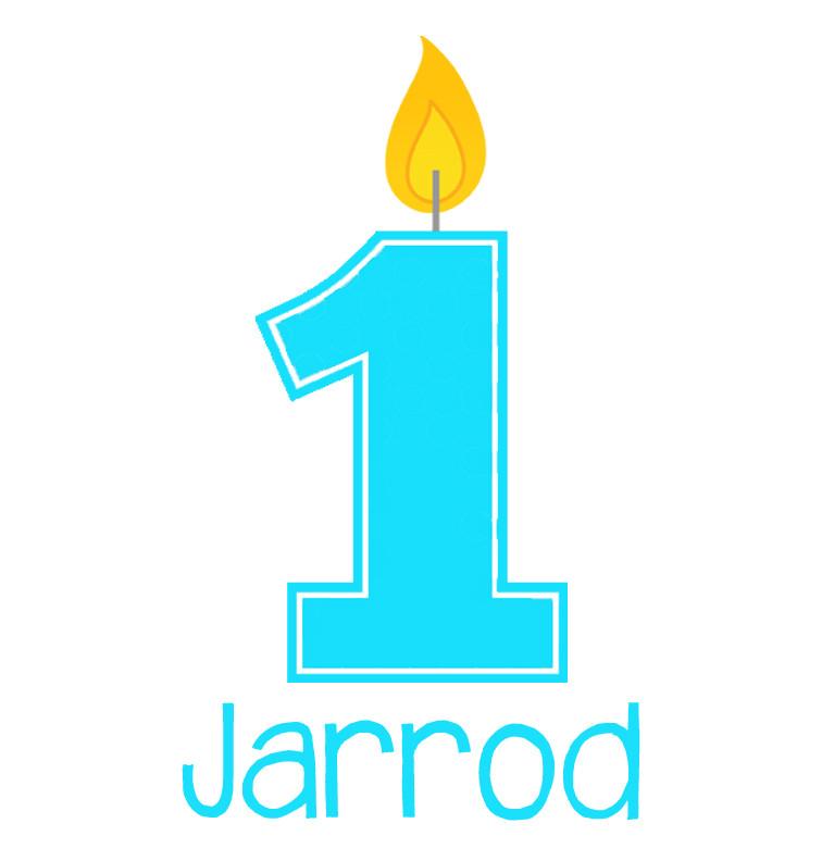 Personalised First Birthday Baby Boy Onesie - Jarrod