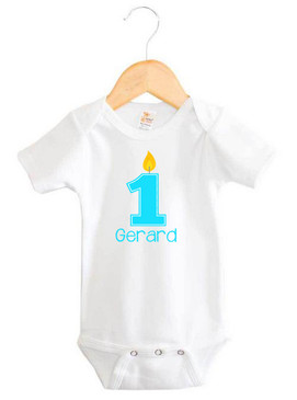 Personalised First Birthday Baby Boy Onesie - Gerard