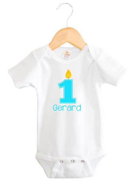 Personalised First Birthday Baby Boy Onesie - Gerard