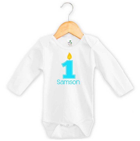 Personalised First Birthday Baby Boy Onesie - Samson