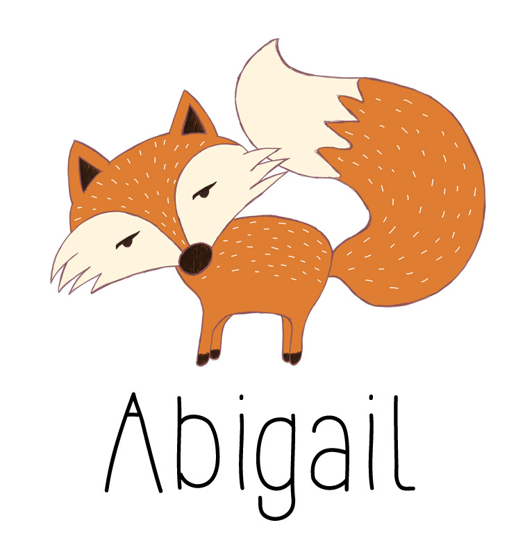 Personalised Fox Baby Name Dress - Abigail
