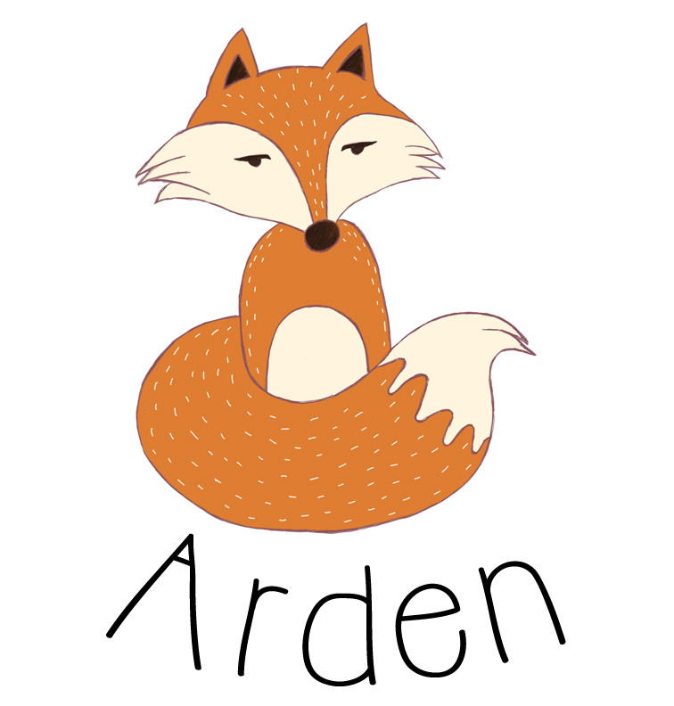 Fox Baby Name T-shirt | Personalised Products | Word On Baby