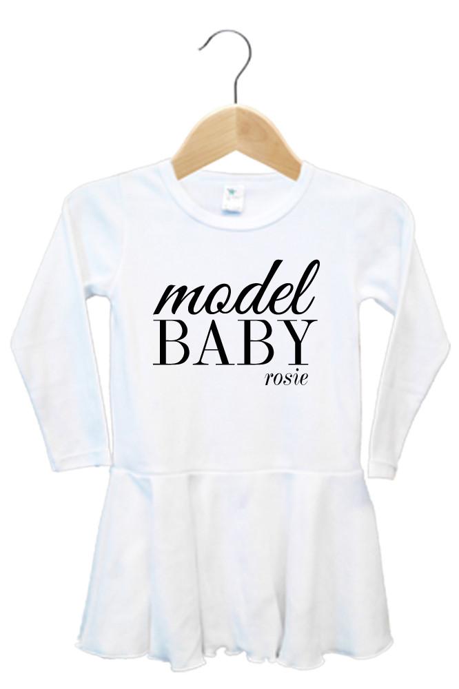 Personalised Model Baby Dress - Rosie