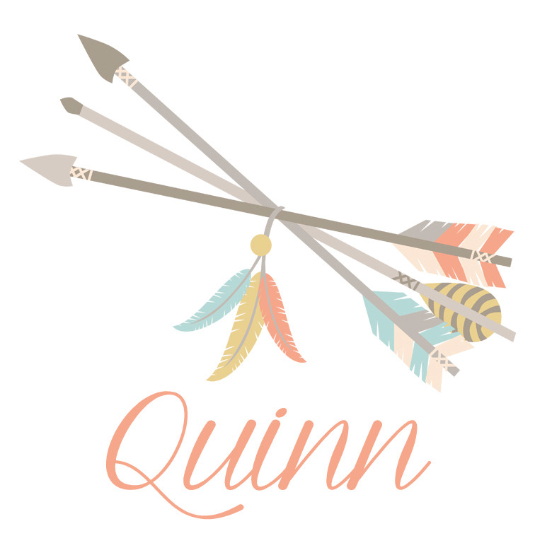 Tribal Arrows and Feathers Baby Name Dress - Quinn