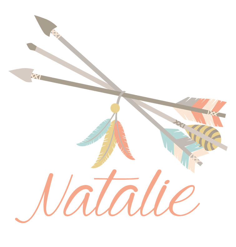 Tribal Arrows and Feathers Baby Name Dress - Natalie