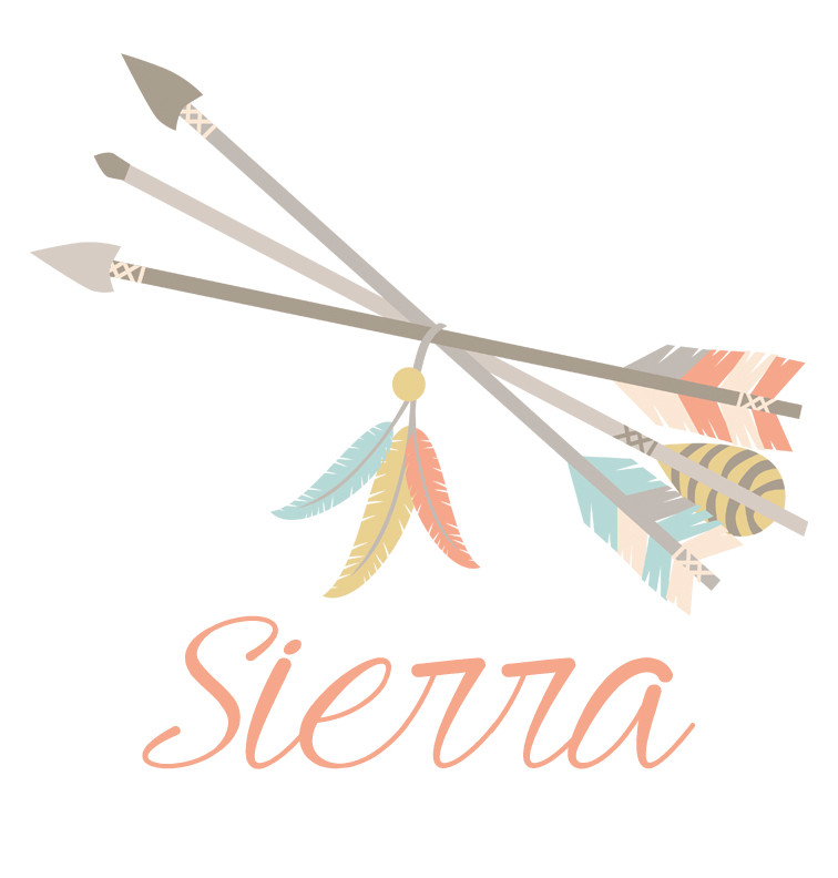 Tribal Arrows and Feathers Baby Name Dress - Sierra