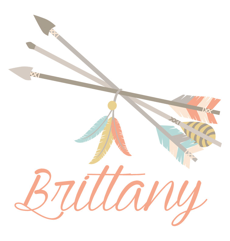 Tribal Arrows and Feathers Baby Name Dress - Brittany