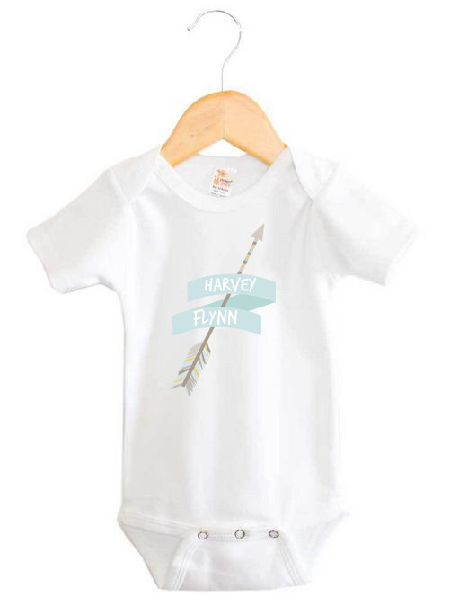 Tribal Arrow Baby Name Onesie Personalised Baby Products