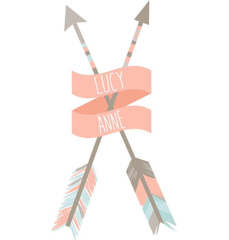 Coral Tribal Arrows Name Dress - Lucy Anne