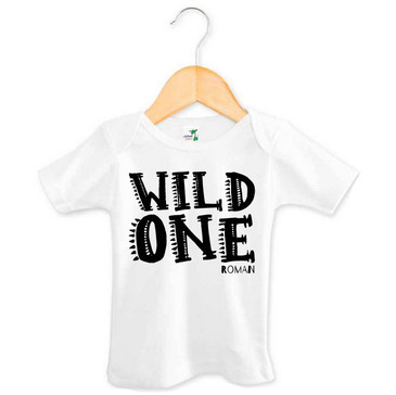 Personalised Wild One Baby Tee - Roman