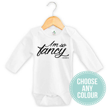 I'm So Fancy Personalised Baby Onesie