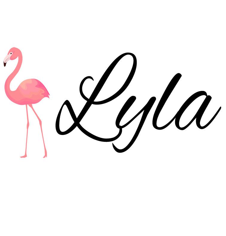 d3d1c4782 Pink Flamingo Baby Name Onesie