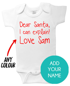 Dear Santa I Can Explain Onesie - Sam