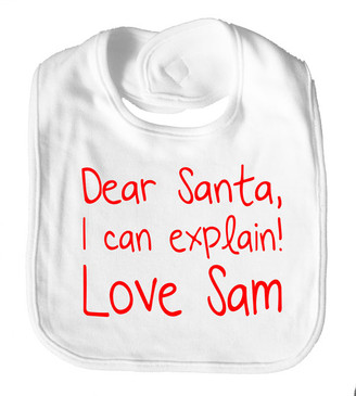 Dear Santa I Can Explain Bib - Sam