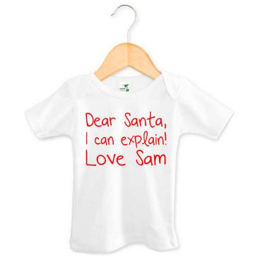 Dear Santa I Can Explain T-shirt - Sam