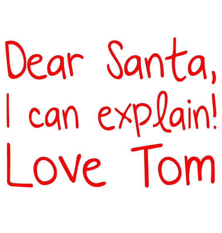 Dear Santa I Can Explain T-shirt - Tom