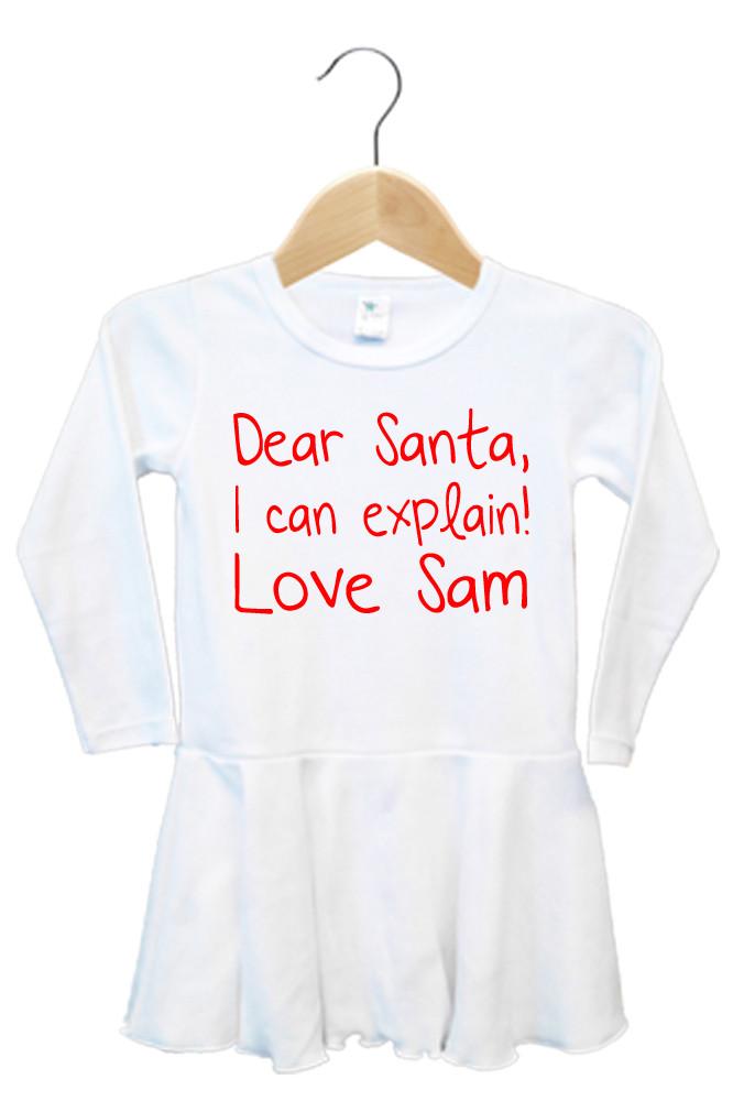Dear Santa I Can Explain Dress - Ella