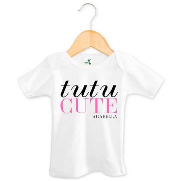 Personalised Tutu Cute Baby Tee - Arabella