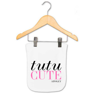 Personalised Tutu Cute Baby Burp Cloth - Ainsley