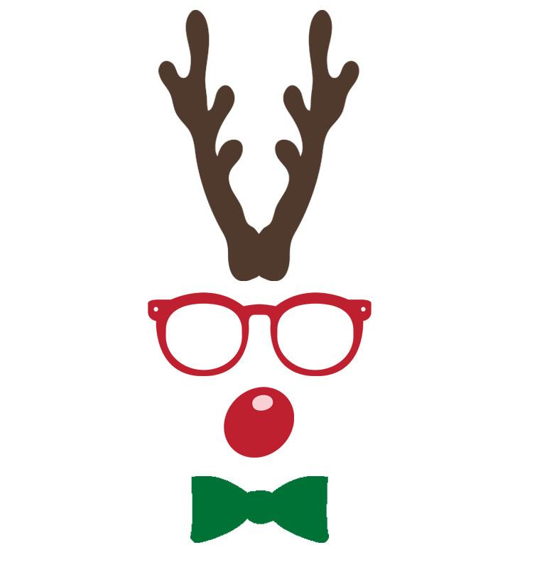 Hipster Reindeer Baby Onesie Custom Made Christmas Gifts