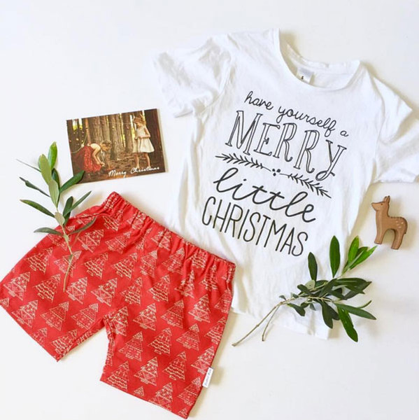 Merry Little Christmas Kids Tee by @cocktailkids