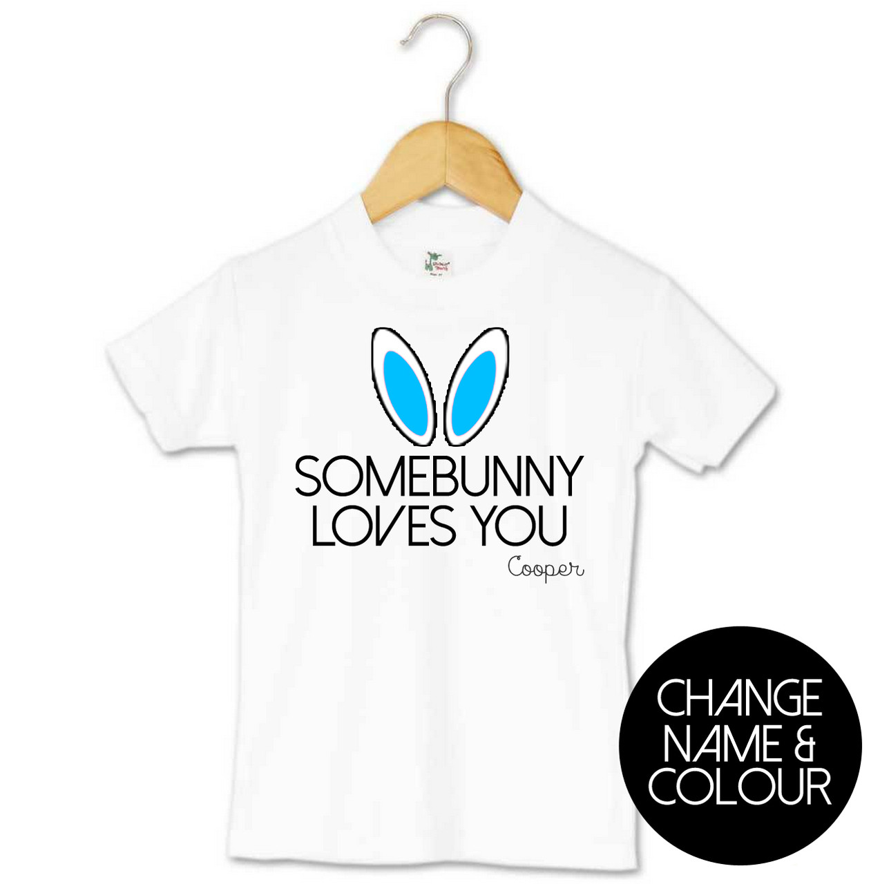 777ff3517 Somebunny Loves You Kids Tee