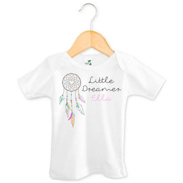Little Dreamer - Personalised Name Dreamcatcher Top