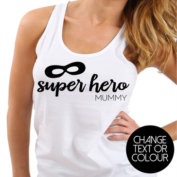 Super Hero Mummy Tank Singlet