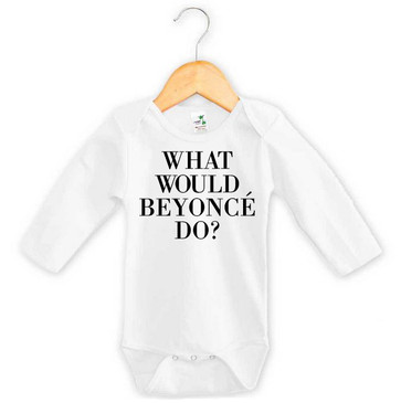 What would Beyonce do? long sleeve baby grow by Word On Baby