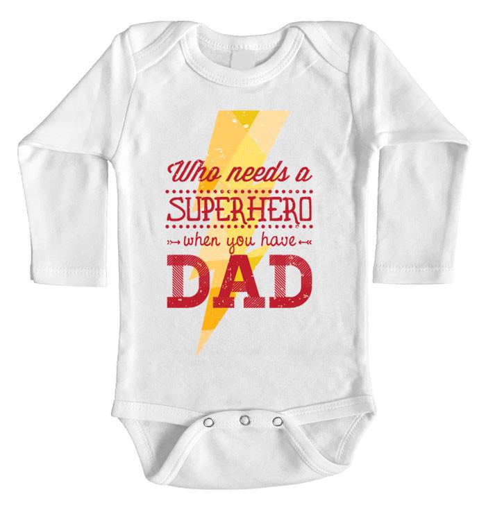 17d9e3dae Superhero Dad Onesie