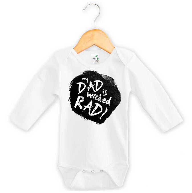 485c4071e My Dad is Wicked Rad Long Onesie