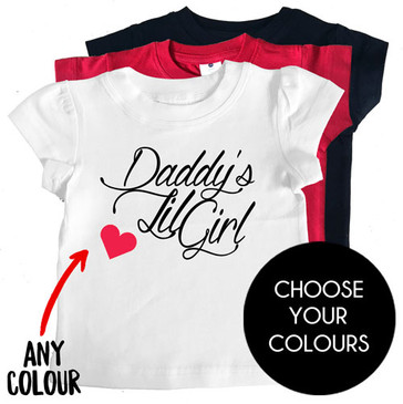 Daddy's Lil Girl Kids Tees - customized